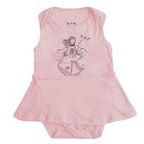 שמלה No Biggie לתינוקות (מידות 0-24 חודשים) ורוד