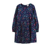 שמלה OVS פרחונית עם שרוולים ארוכים לילדות - כחול