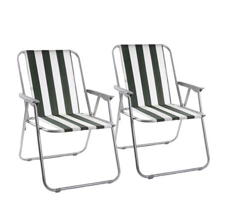 זוג כיסאות מתקפלים CAMPTOWN קלים לנשיאה