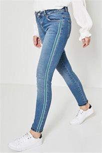 סקיני ג'ינס PROMOD לנשים - אפור כהה