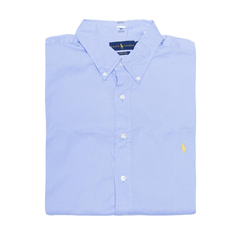 חולצה מכופתרת POLO RALPH LAUREN מידות גדולות - תכלת עם לוגו צהוב