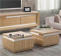 זוג קוביות שולחן לסלון בעיצוב מודרני דגם פורסט