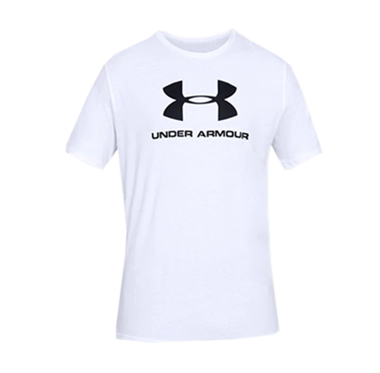 חולצת טישרט לגברים Under Armour SS19 SPORTSTYLE LOGO SS - לבן
