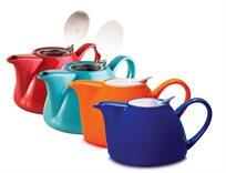"""קנקן חליטה לתה עשוי פורצלן קיבולת 1200 מ""""ל מבית ARCOSTEEL במגוון צבעים  - משלוח חינם!"""