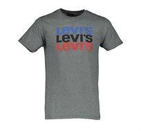 חולצת טי שירט לגברים צוורון עגול Levi's - אפור