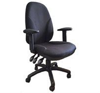 כסא מזכירה עם ידיות מתכווננות לבית ולמשרד