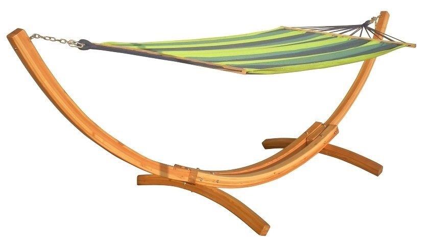 מתקן מפואר ומפנק לערסל מעץ טבעי + ערסל זוגי דגם GRAND מבית CAMPTOWN