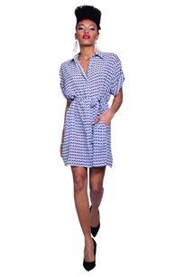 חולצת קשירה - כחול אפרפר