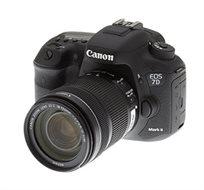 מצלמת רפלקס EOS 7D Mark II 18-135  חיישן APS-C CMOS בעל 20.2 מגה פיקסל  מבית Canon