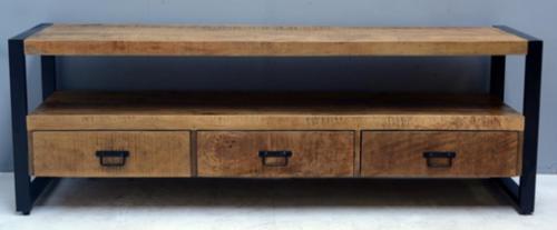 מזנון 180 ס''מ יוקרתי מעוצב עץ משולב ברזל