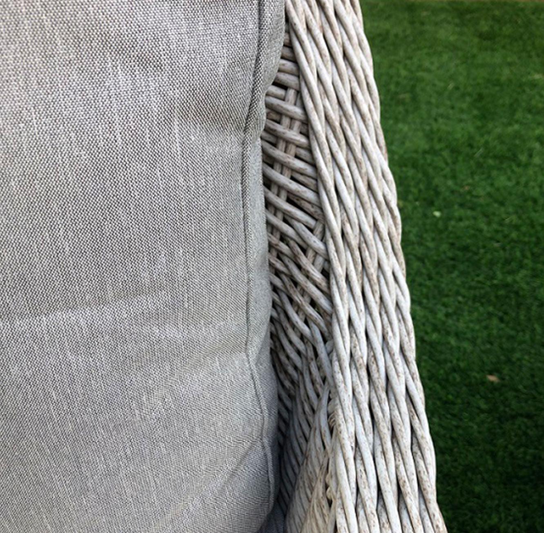 מערכת ישיבה לגינה או למרפסת הכוללת ספה תלת מושבית עשויה ראטן עם שלדת אלומיניום - תמונה 4