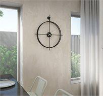 שעון קיר מודרני בצבע שחור דגם רומיאו