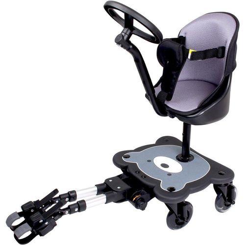 טרמפיסט עם מושב מרופד לעגלה, ידית דמויית הגה ו 4 גלגלים Cozy4