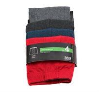 מארז 4 זוגות תחתוני בוקסר סטרץ' לגבר של המותג 365! במגוון צבעים