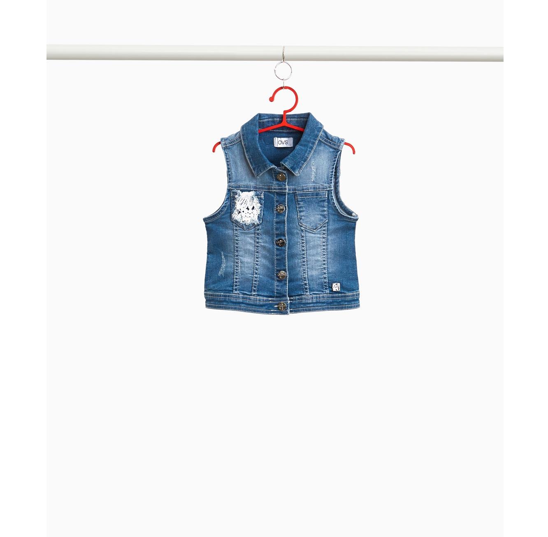וסט ג'ינס סטרץ' OVS לילדות - כחול