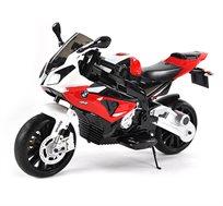 אופנוע ממונע לילדים עם שתי מהירויות וגלגלי AVU המדמים גלגלים אמיתיים דגם S1000RR BMW