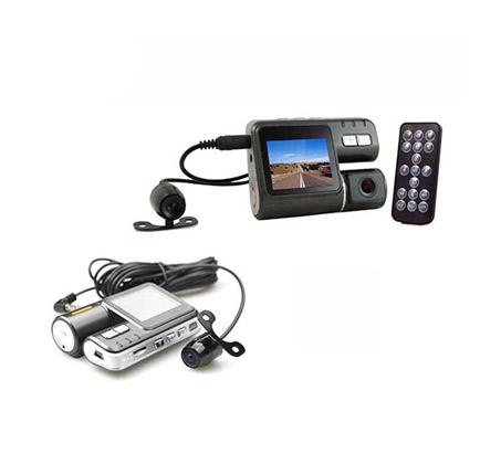 מצלמת רכב משולבת עם צג ו-2 מצלמות קדמית ואחורית לצילום הדרך וצילום התנועה מאחור ובזמן ורוורס