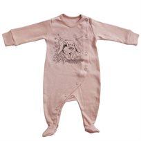 אוברול No Biggie לתינוקות (מידות 0-12 חודשים) ורוד