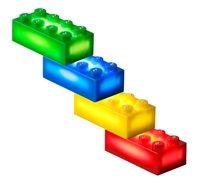 12 קוביות תוספת למשחק בסיסי LIGHT STAX, תואם גודל קוביות LEGO - משלוח חינם!