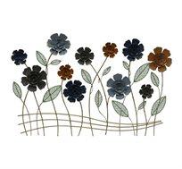 קישוט קיר מתכתי עם בצורת סימפוניית פרחים