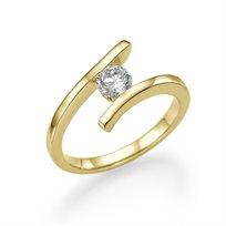 טבעת אירוסין זהב צהוב ליליאן 0.41 קראט בעיצוב צעיר וחדשני