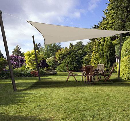 מפרש הצללה מבד לייקרה לעיצוב הגינה המסנן כ-98% קרינת UV במגוון גדלים לבחירה - תמונה 2