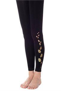 גרביון שלכת Zohara ללא כף רגל בצבע שחור