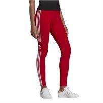 טייץ ספורטיבי לנשים אדידס - Trefoil Leggings אדום