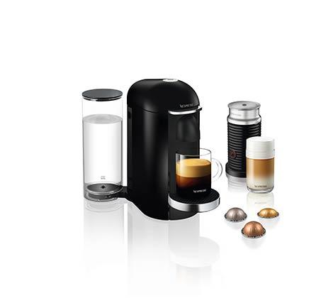 מכונת NESPRESSO וורטו פלוס בצבע שחור כולל מקציף חלב ארוצ'ינו  דגם GCB2-IL-BK-NE
