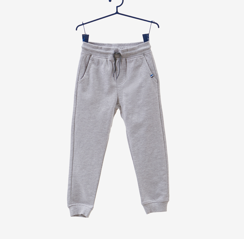 מכנסיים עם שרוך לקשירה OVS לילדות - אפור