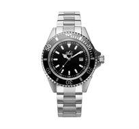 שעון צלילה לגבר עשוי פלדת אל חלד ועמיד במים עם מחוגים זוהרים ותאריכון - ADI
