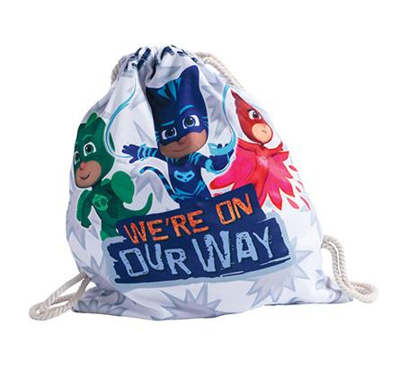 תיק שרוך כוח פי ג'יי לילדים - לבן + כובע מתנה
