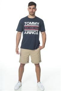 TOMMY HILFIGER גברים // טי - שרט כחולה לוגו