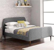 מיטה זוגית GAROX בריפוד בד פשתן דגם MONA - משלוח חינם