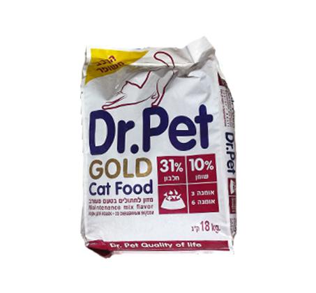 """מזון לחתולים גולד 18 ק""""ג"""