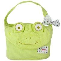 מגבת רחצה עם קשירה  ירוק צפרדע - מיננה