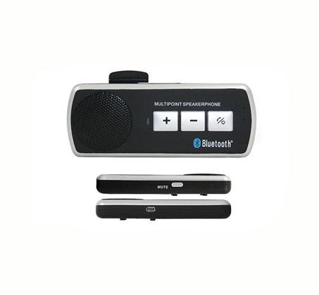 דברו חופשי! דיבורית BLUETOOTH לכל הסמארטפונים עם סוללה נטענת, תופסן למגן השמש ברכב וכבל USB לטעינה - תמונה 2