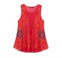 גופייה DESIGUAL GALACTIC ALMA לנשים בצבע אדום