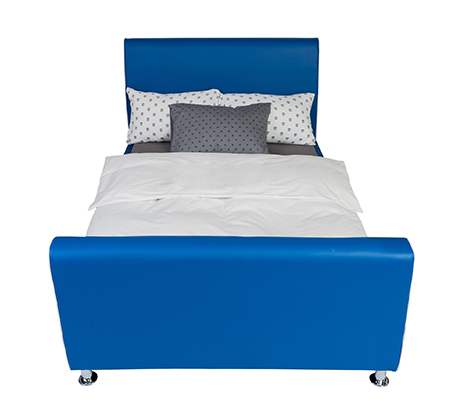 מיטת וחצי/מיטת נוער דגם נסיך בצבע כחול רויאל קוקולה - תמונה 3