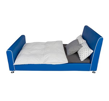 מיטת וחצי/מיטת נוער דגם נסיך בצבע כחול רויאל קוקולה - תמונה 2