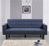 ספה לאירוח תלת מושבית נפתחת למיטה עם ידיות צד