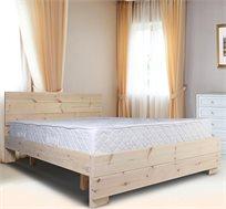 מיטה מעץ אורן מלא כוללת מזרן במגוון צבעים ומידות לבחירה