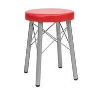 כסא בר למטבח בריפוד סקאי דגם קרוס במבחר גוונים לבחירה