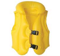 """אפוד ציפה מתנפח בצבע צהוב עבה במיוחד בגודל 51X46 ס""""מ WIN"""