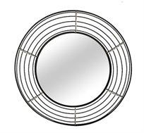 מראה עגולה דגם wire מושחרת