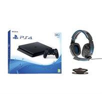 קונסולה Playstation 4 דגם SLIM בנפח 500GB   + סטנד שולחני מטען ואוזניות דרגון מתנה