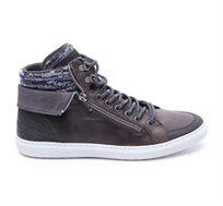 Seventy Nine- נעלי סניקרס גבוהות לגברים בצבע אפור