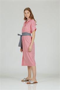 שמלה פסים באדום - CUBiCA
