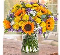 זר אהבה כפרית אביבית, שמח וצבעוני המתאים לכל אירוע - משלוח חינם!