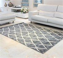 שטיח לסלון בעבודת יד בצבע אפור בהיר וגדלים לבחירה
